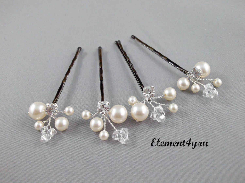ivoire pearl clip pingles cheveux de mari e. Black Bedroom Furniture Sets. Home Design Ideas