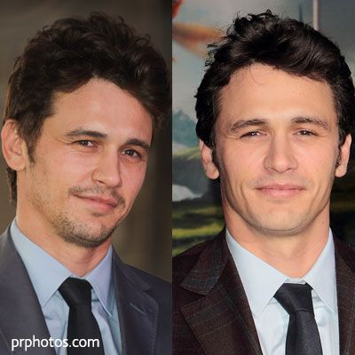 James Franco - clean cut or goatee with pencil moustache ...