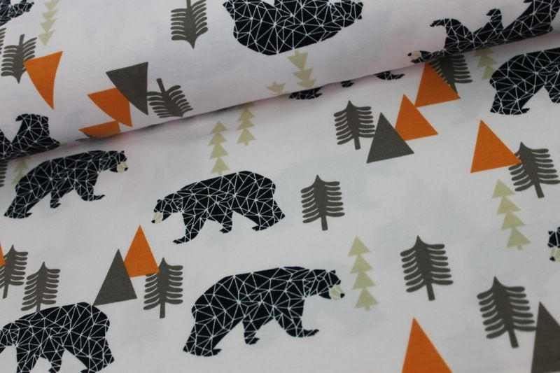 Camping Bear Bio Jersey 10cm  von Kleine Stoffträume auf DaWanda.com