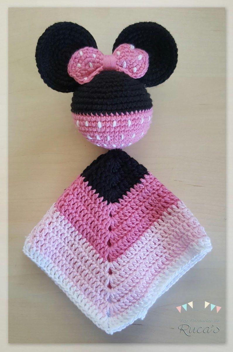 Patrón Mantita de Apego Mickey - Minnie Mouse | Amigurumis ...