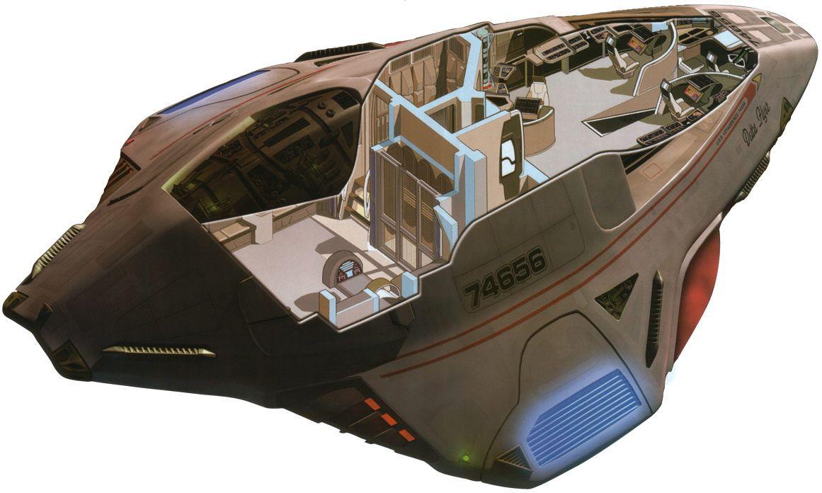 Star trek voyager spacecraft - Fuckyeahspaceship Delta Flyer Uss Voyager S Shuttle Cutaway Star Trek