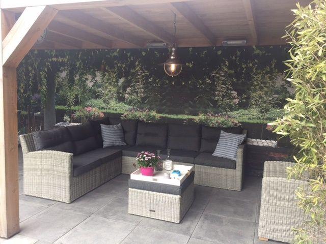 Kussens Loungeset Buiten : Loungeset voor buiten van vlechtwerk met dikke kussens loungeset