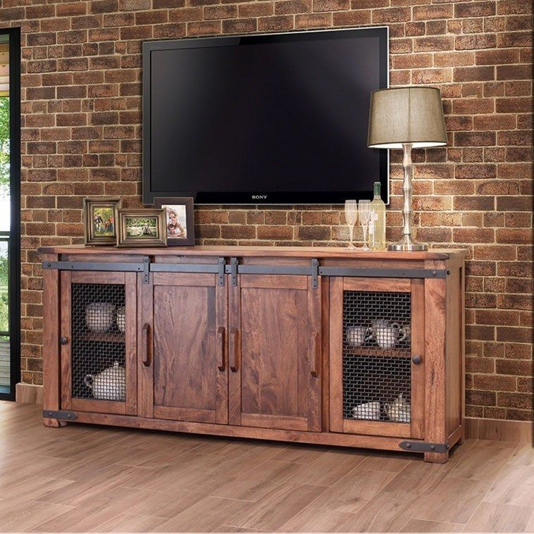 Parota 80 Inch Tv Stand W 4 Doors In 2020 Entertainment Center