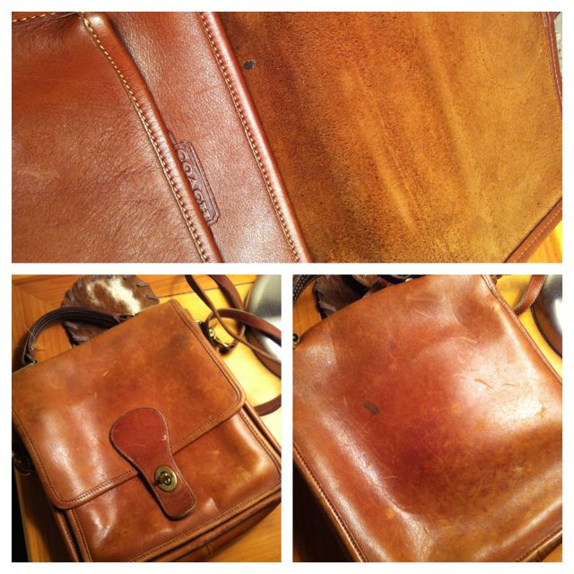 Pulled this Coach purse from Mom's stash. Needs to be reconditioned. #retro