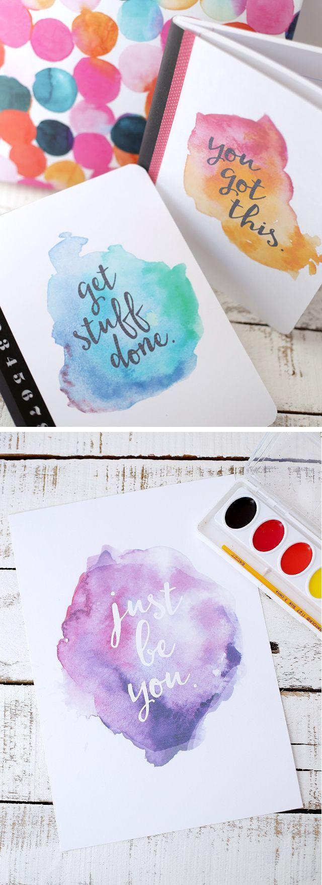 Free Printable Watercolor Notebook Covers – Eighteen25
