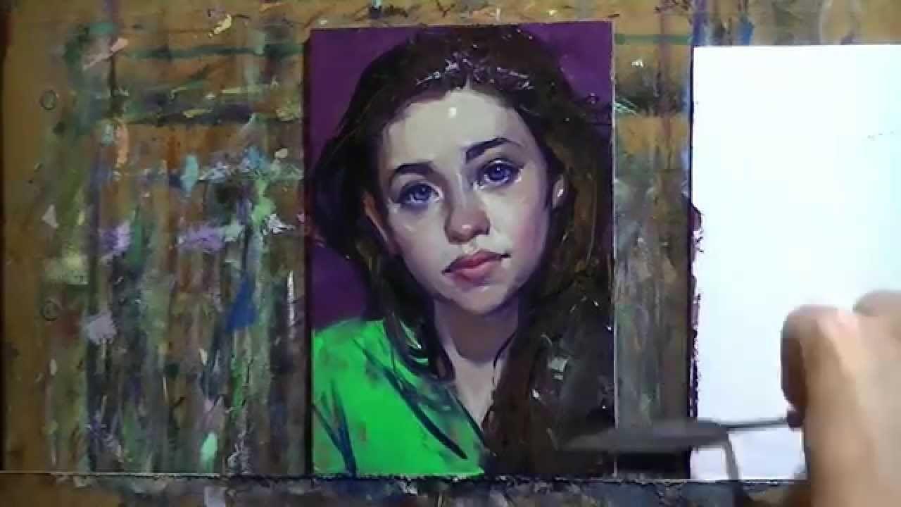 "Painting Demo - ""Bright"", John Larriva art"