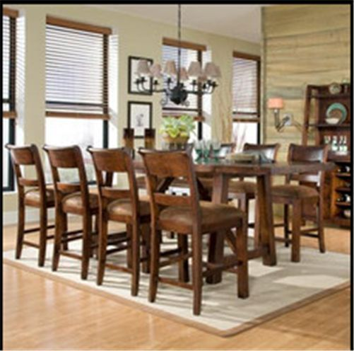 Classic Legacy 9 Piece Counter Height Dining Table Set Rustic High Extraordinary Pub Height Dining Room Table Design Ideas