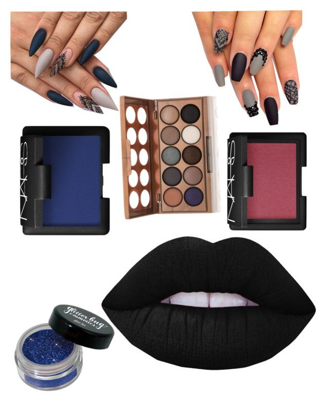 """Corpse Bride Wedding Makeup"" by jennahyg on Polyvore featuring beauty, NARS Cosmetics, Lime Crime and NYX"