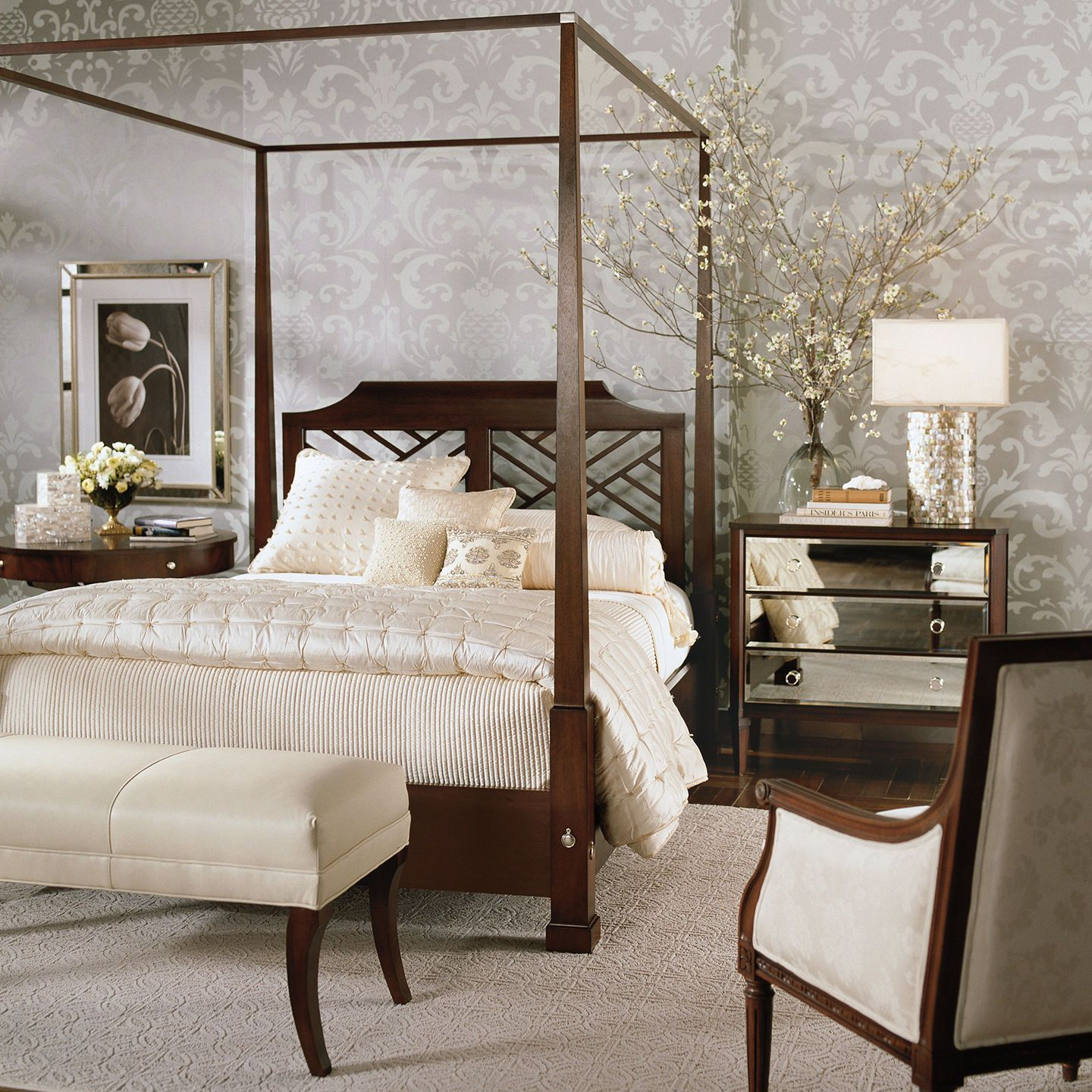 neutral interiors ethan allen bedroom idea veronica chest and poster bed ethan allen. Black Bedroom Furniture Sets. Home Design Ideas
