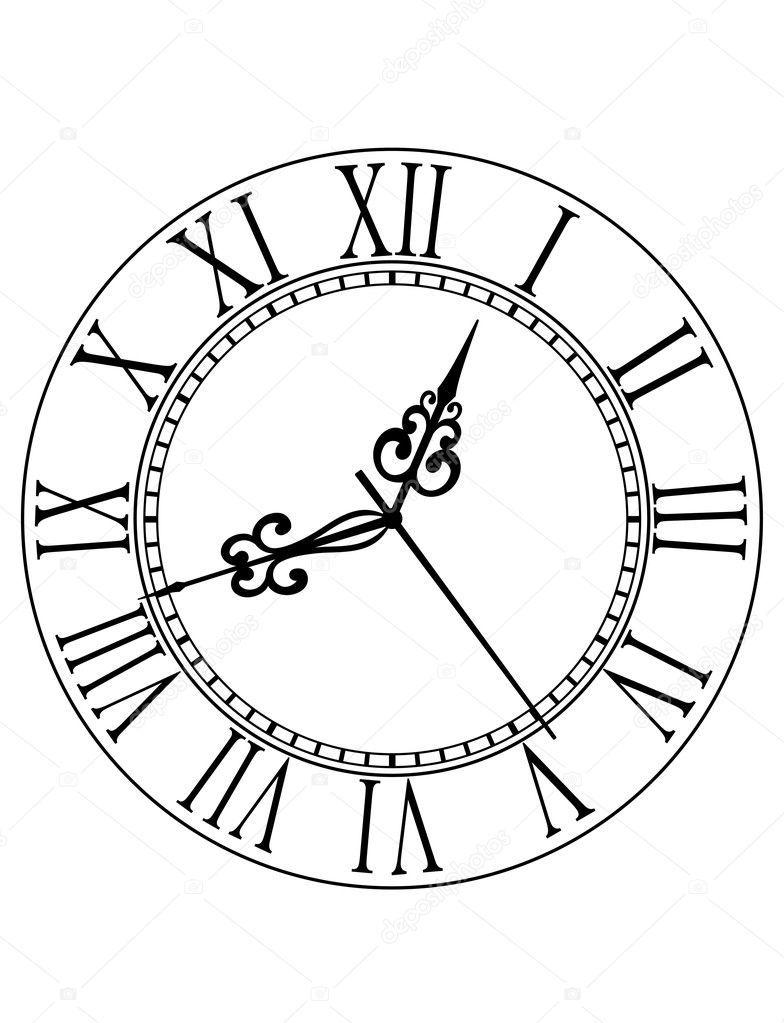 Related Image Clock Face Tattoo Clock Face Clock Drawings