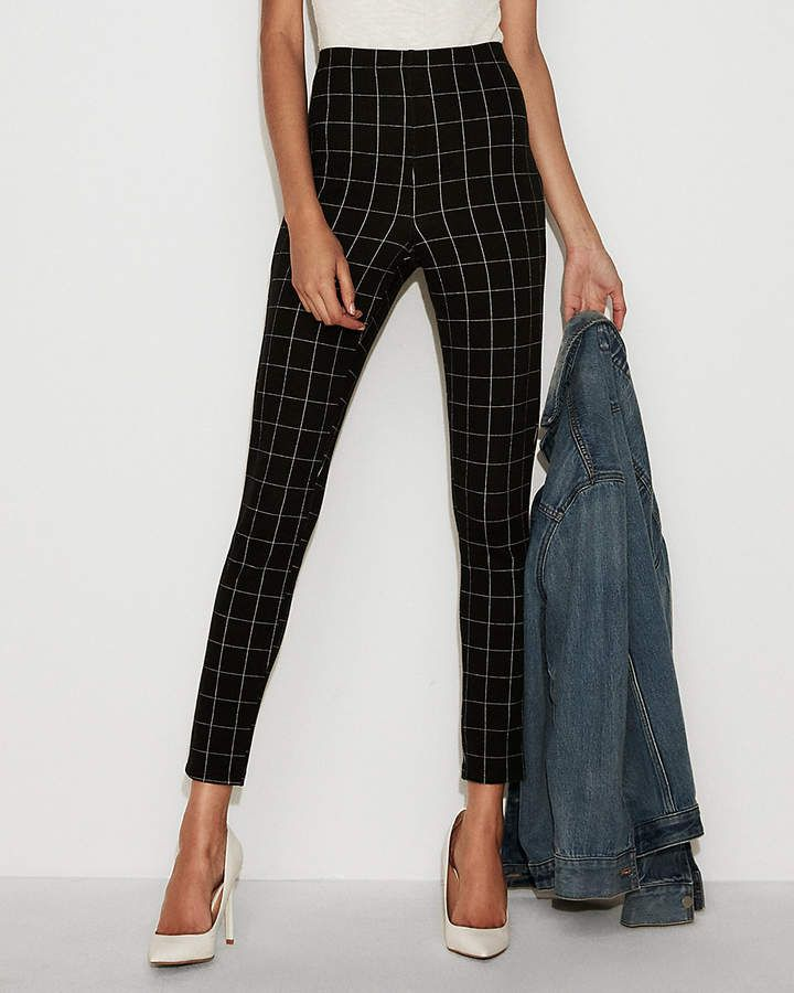 1535856ee99f6 Express High Waisted Windowpane Pull-On Leggings #fashion #style #shopping  #shoes #deals