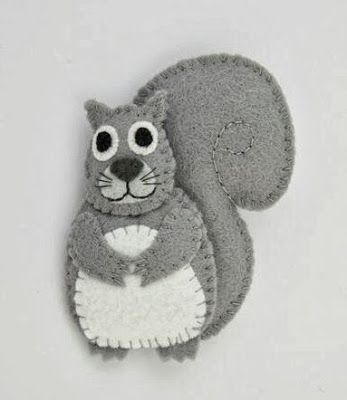 Bugs And Fishes By Lupin Make A Felt Squirrel From My Ne