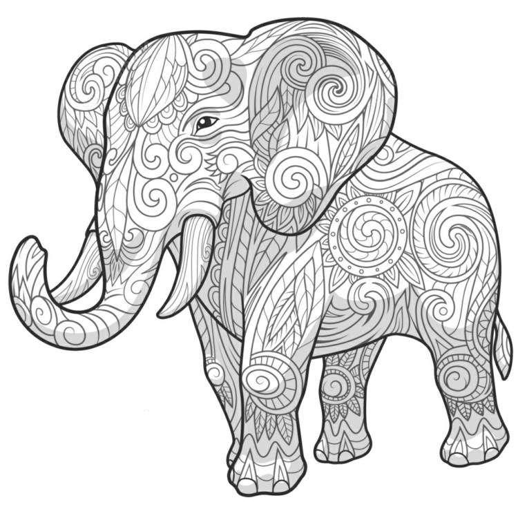 Pin Von Laszlone Nemedi Auf Mandala Zum Ausdrucken Zentangle Vorlagen Mandala Malvorlagen Tiere Elefant Zeichnung