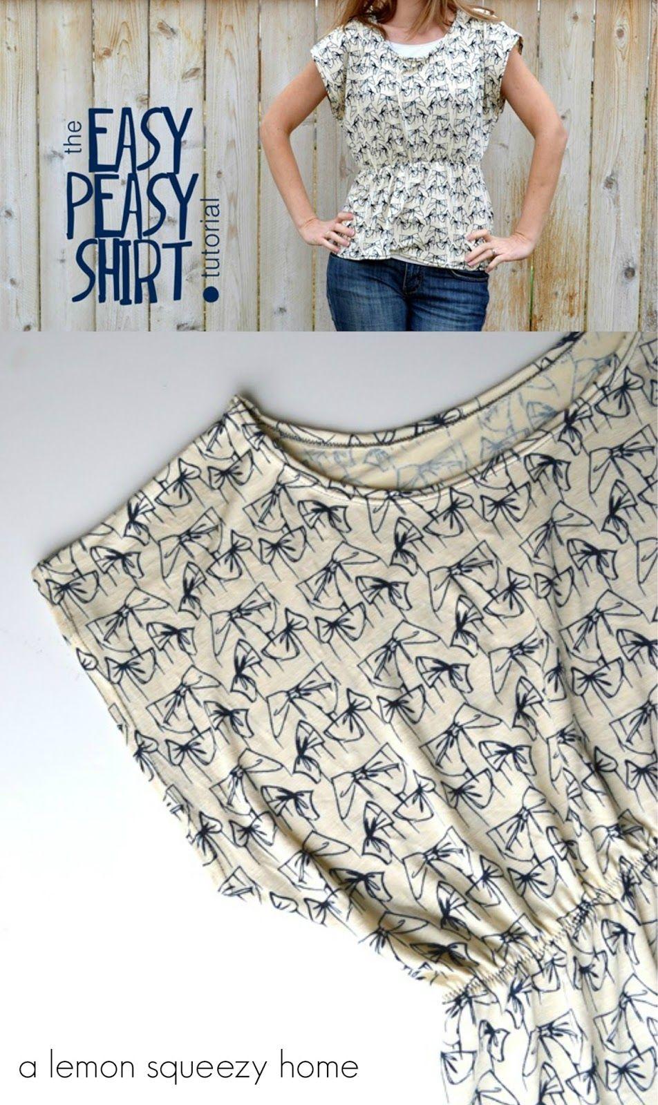 Camisetilla rápida :) | Niños | Pinterest | Costura, Camisetas y Blusas