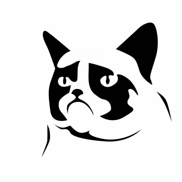 Geeky pumpkin carving templates for Halloween | Grumpy Cat by Jesse ...