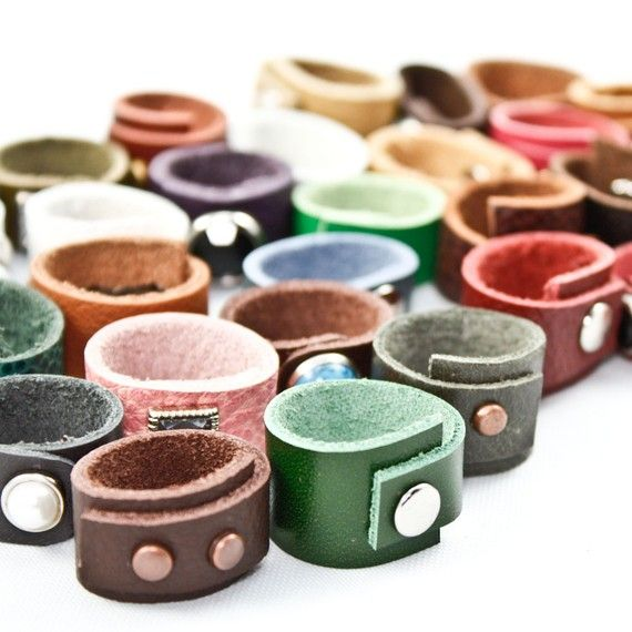 custom leather #ring from #etsy. So neat :)