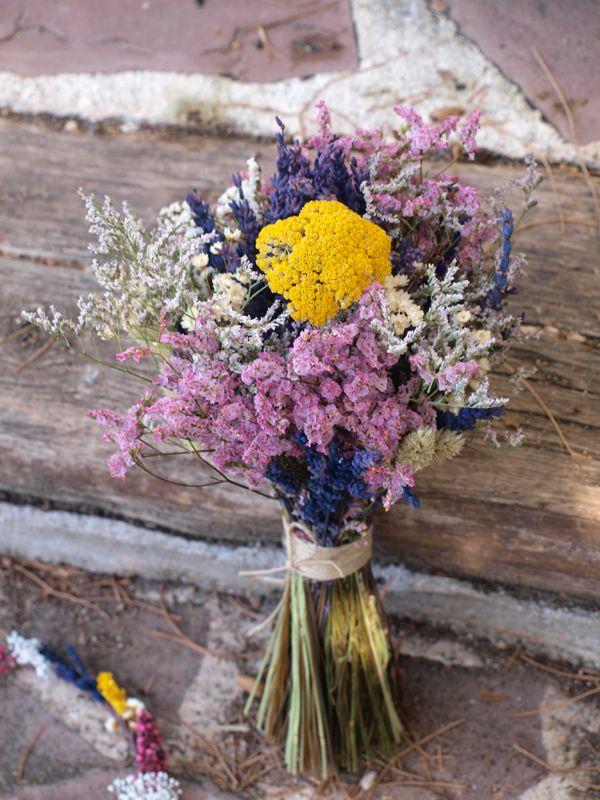 ramo de novia de flores secas