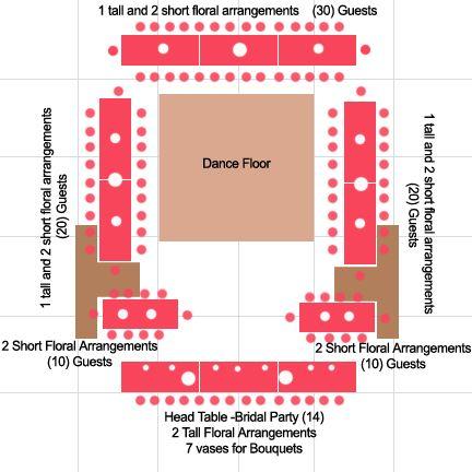 Wedding Reception Layout With Rectangular Tables Meyta