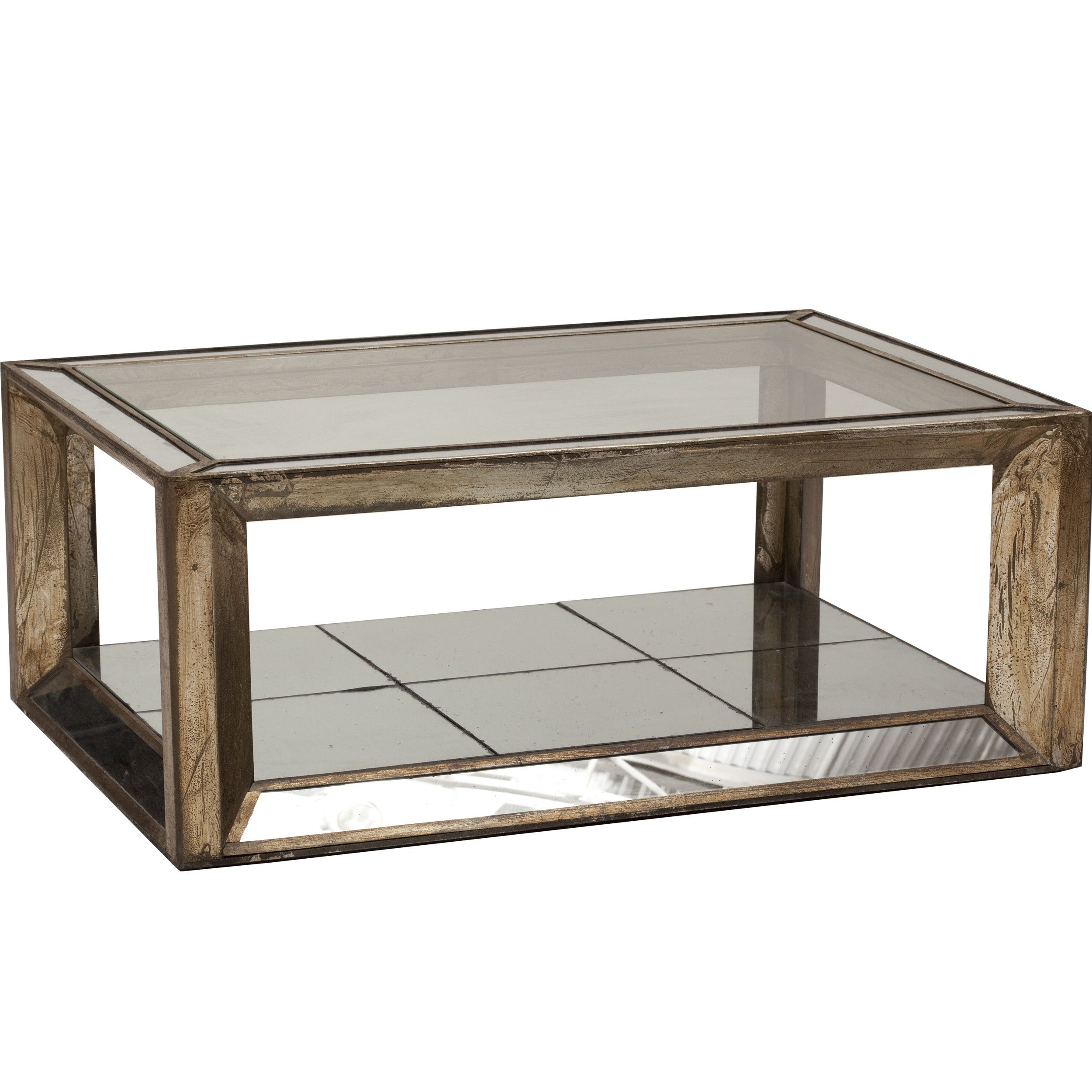 Rectangle Mirrored Coffee Table High Fashion Home