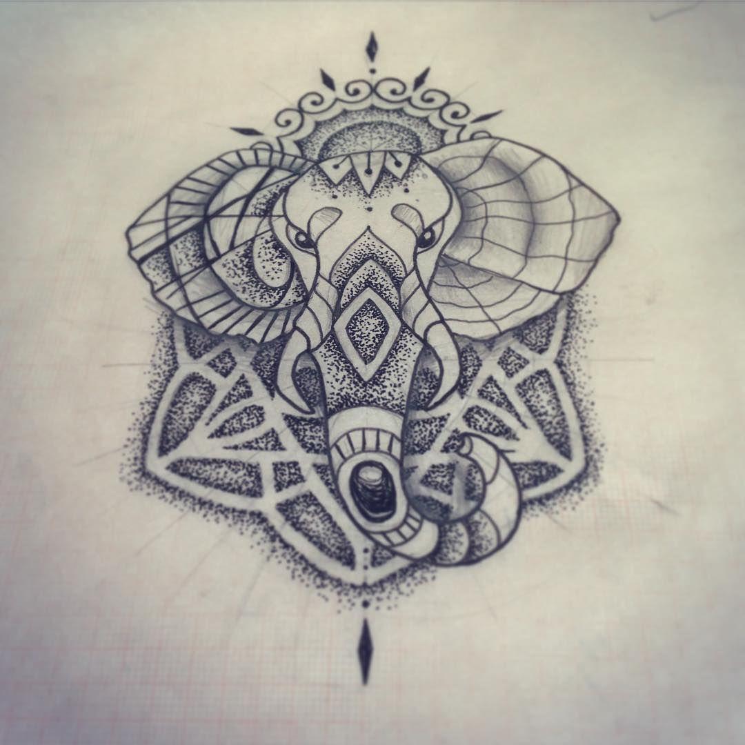 SketchTime! #lagallinatattoo #sketch #dotwork #dotworksketch #elephant #elephanttattoo #tattoo #tatuaje #argentina #buenosaires #geometricidea #geometricsketch !!