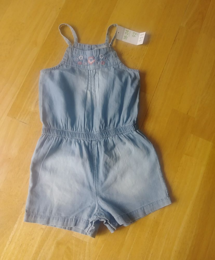 26e92f0f259 Infant Baby Girls Denim Romper Bodysuit Jumpsuit Clothes Outfits  primark   TrouserOutfit  DressyEverydayHoliday https