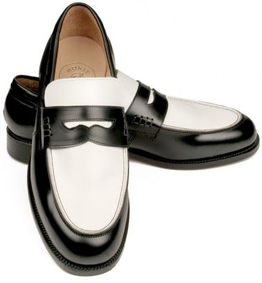 a6f913f633ec5 Handmade 50's Style Black & White Loafer - Vintage clothing from Rokit - two  tone loafers, penny loafer