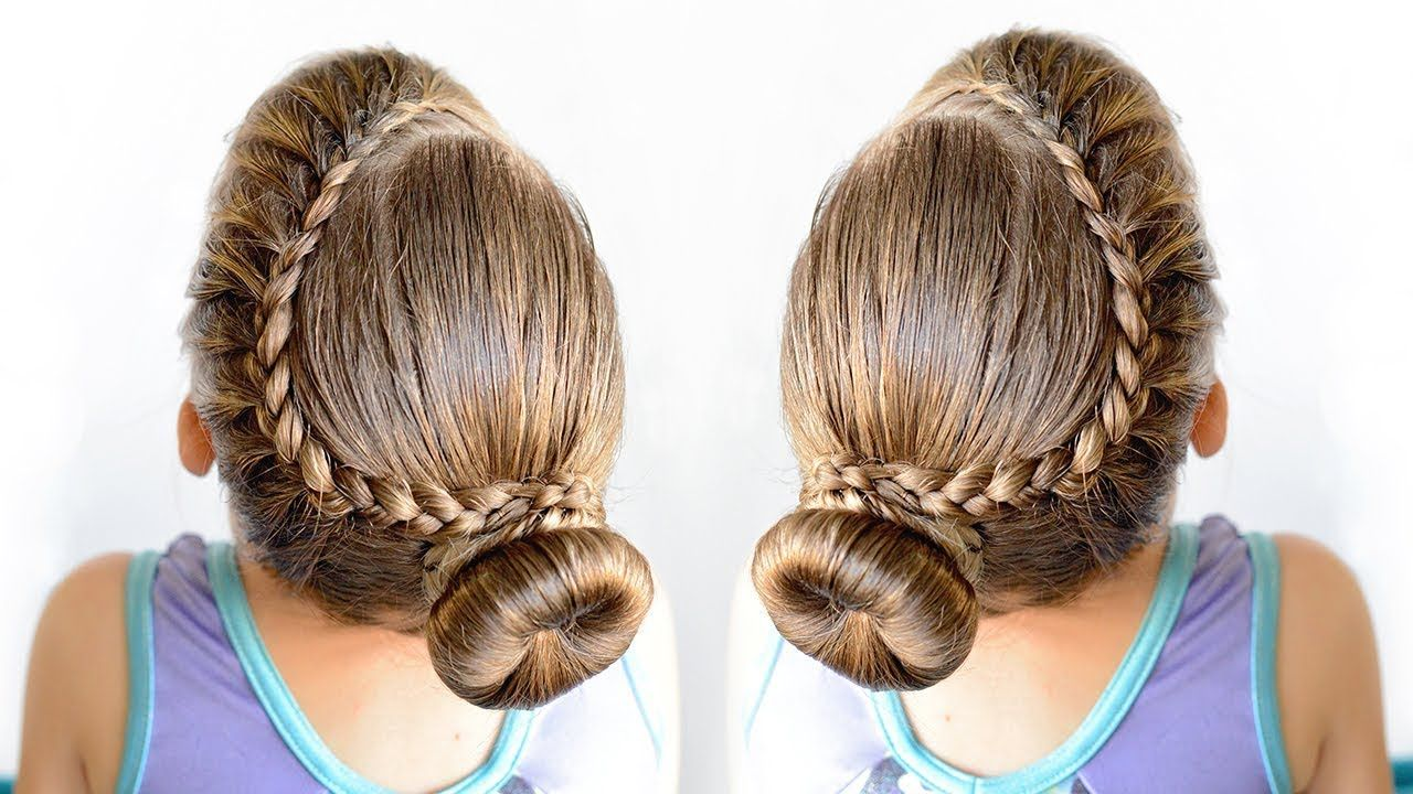lace braid bun - dance hairstyle for little girls   toddler