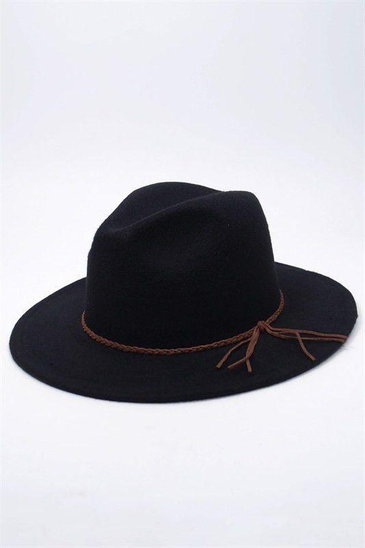 3c150494edd Best-seller women wool-felt fedora hat with a braided tassel. Brim approx.  2.5 inches --One size-- Free Shipping