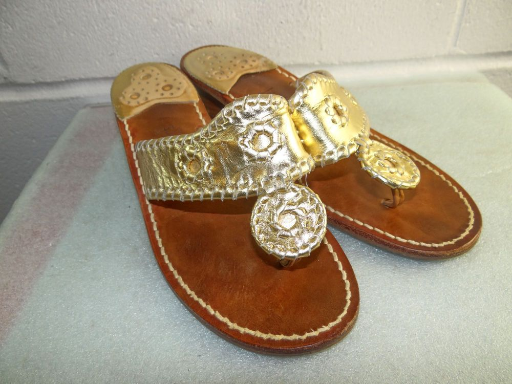 1c229f75872a Jack Rogers Gold Leather Block Heel Sandals Women Size 8M  fashion  clothing   shoes  accessories  womensshoes  sandals (ebay link)