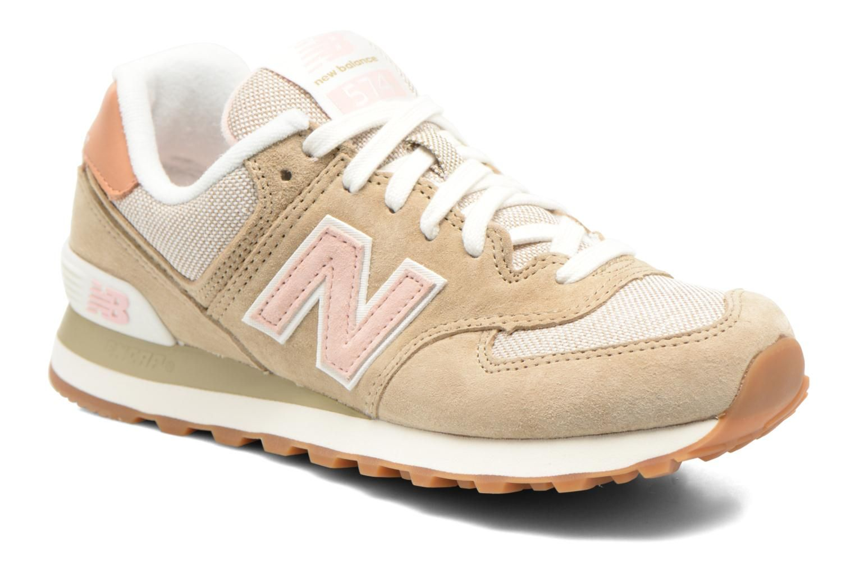 new balance 574 beige e rosa