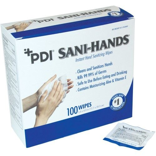 Sani Hands Alc Individual Wipes 5 X 8 White Anti Septic