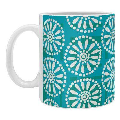 DENY Designs Zoe Wodarz Daisy Plaid Coffee Mug