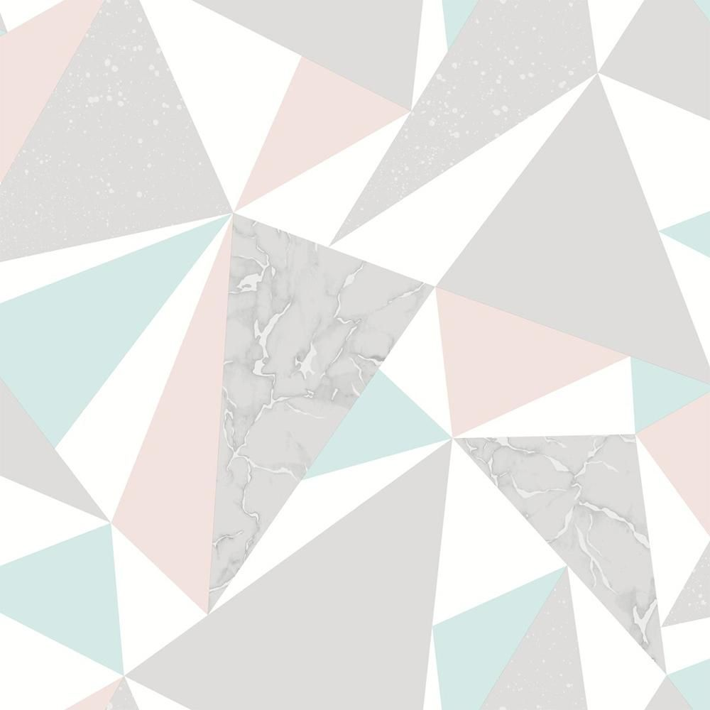 Walls Republic Party Triangles Paper Strippable Wallpaper Covers 57 Sq Ft R6111 The Home Depot In 2020 Teal Wallpaper Geometric Wallpaper Zebra Print Wallpaper