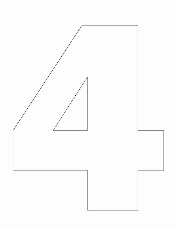 Number Four Coloring Page New Best S Of Number 4 Outline Yellow Number 4 Vinyl Coloring Pages Coloring Pages Inspirational Printable Coloring Pages