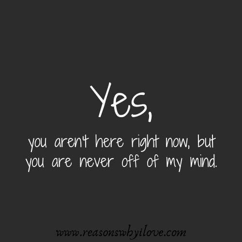 JA, Du bist jetzt nicht hier, aber Du bist nie raus aus meinem Kopf 💖❤️