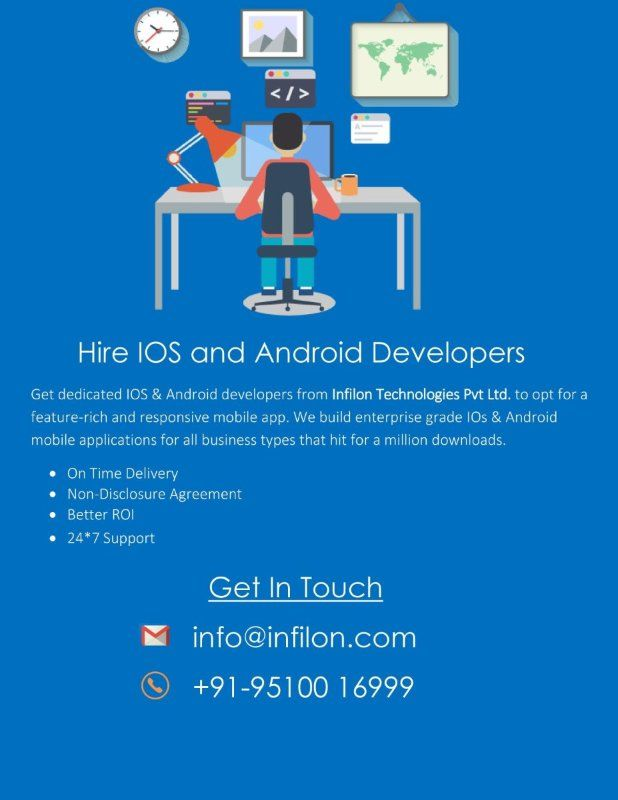 Hire iOS and Android Developer at $8 / hour Hire Developer