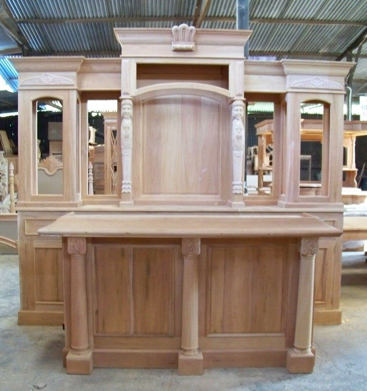 Solid Mahogany Home Pub Bar BEAUTIFUL!