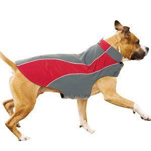 "Amazon.com: Kakadu Pet Explorer Nylon Fleece Reflective Dog Coat, 22"", Flame (Red): Pet Supplies"