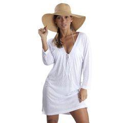 a4cd12bb7b69 saida-de-praia-branca-algodao | Moda femenina | Saidas de praia ...