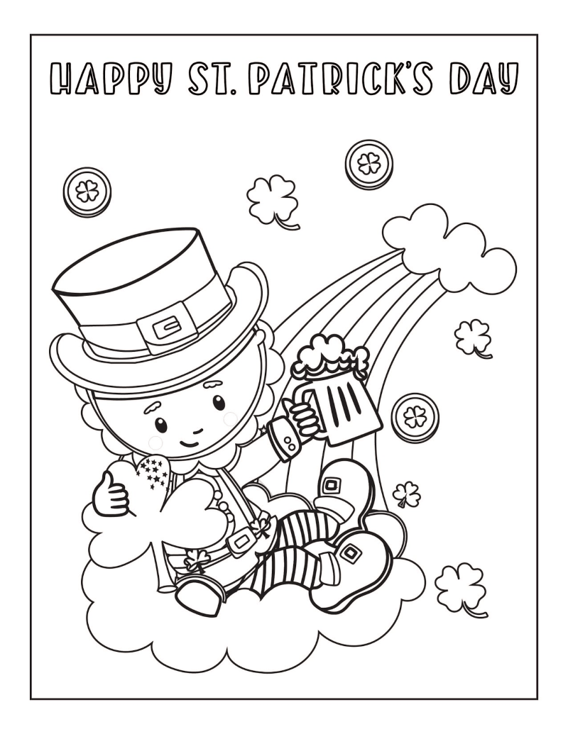 Free Printable St Patrick S Day Coloring Pages Oh My Creative Coloring Pages Diy Coloring Books Face Painting Halloween