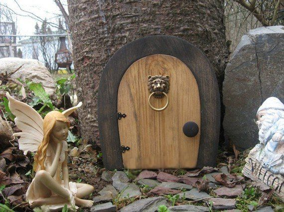 A Fairy Door Gnome Door That Opens 9 Inch Rounded Gnome