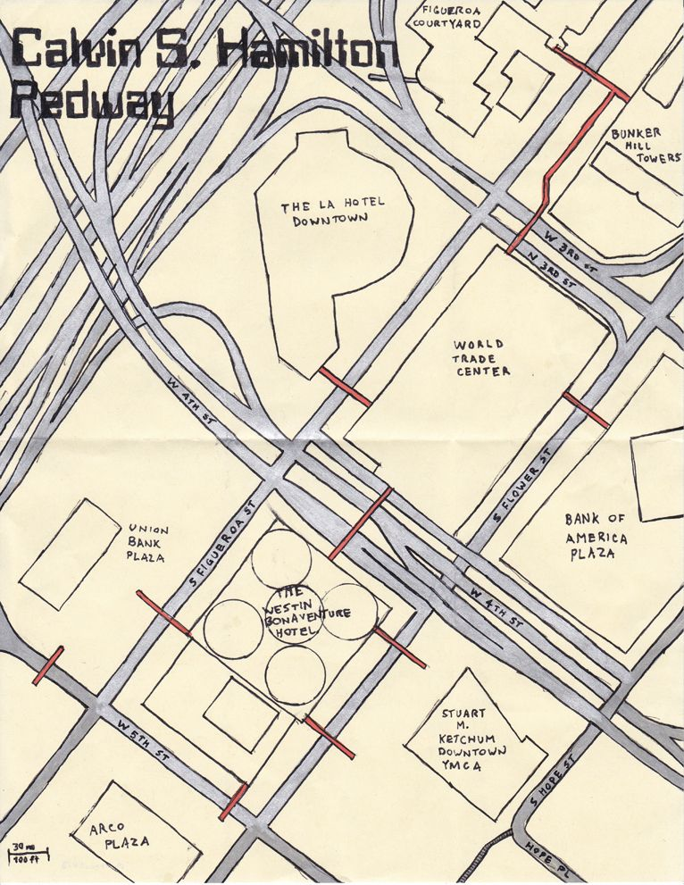 Calvin S Hamilton Pedway Proposed In 1970 As Part Of A Downtown Los Angeles Mechanized People Mover The Pedway Was C Downtown Hotel World Explore