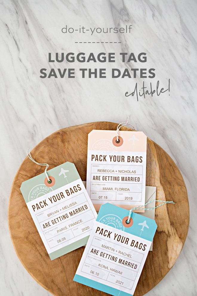Photo of These DIY Destination Wedding Save the Date Luggage Tags Are The Cutest!