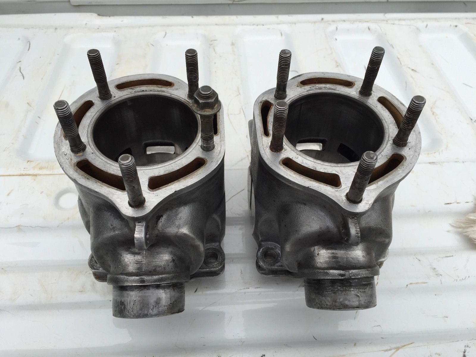 small resolution of banshee ported 66mm stock cylinders with pistons with pistons cylinders stock ported banshee