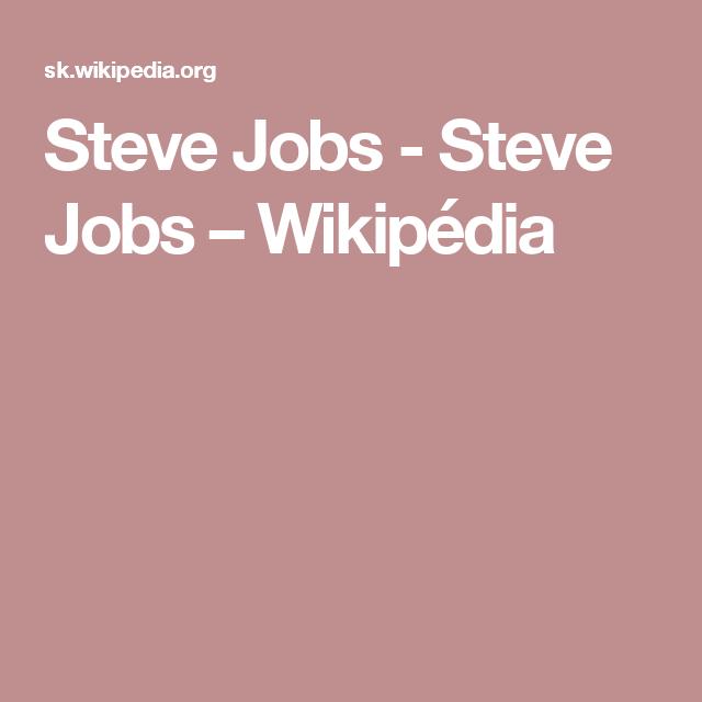Steve Jobs - Steve Jobs – Wikipédia