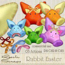 Action - Rabbit Easter by Rose.li #CUdigitals cudigitals.comcu commercialdigitalscrapscrapbookgraphics
