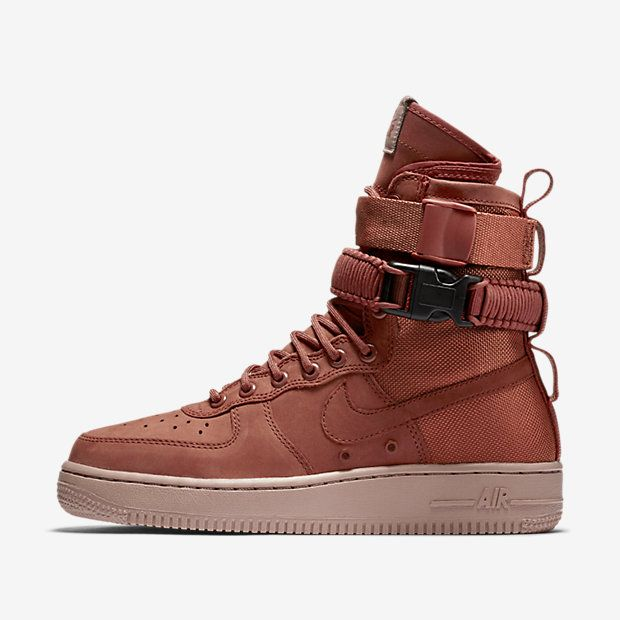 Nike SF Air Force 1 Women's Boot, Dusty Peach/Particle Pink Nike