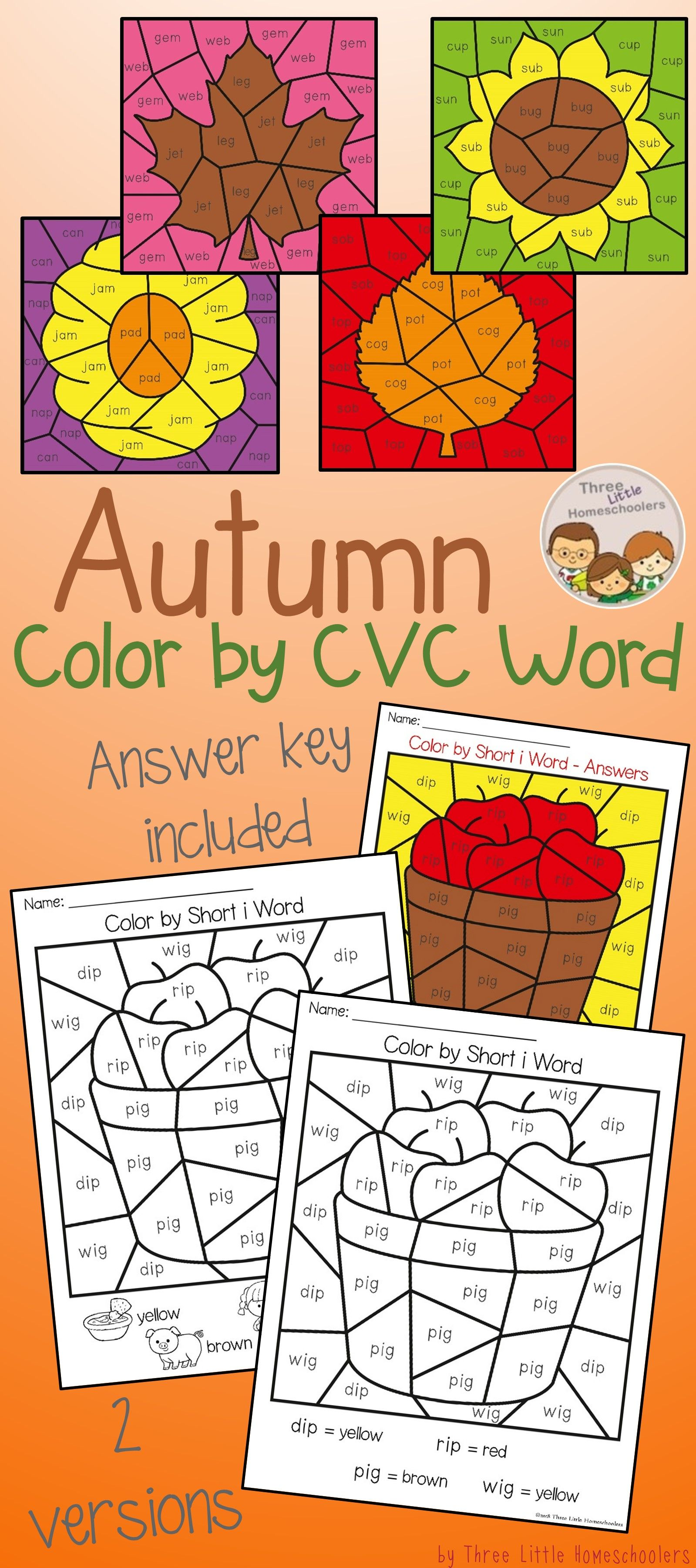 Autumn Color By Cvc Word