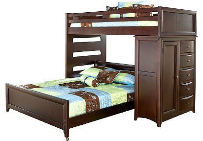 Bunk Beds for Shammy and Austin... this set with the Pottery Barn Surfing sheets.  :)