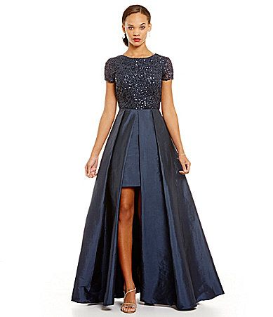 Adrianna Papell Sequin Top Gown   Sequin top, Adrianna papell and ...